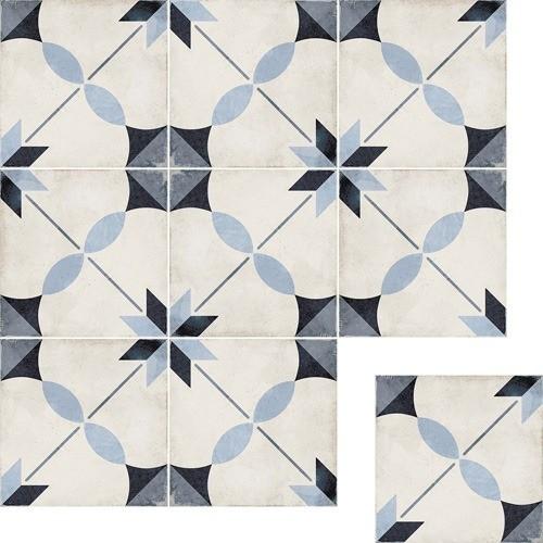 Art Nouveau Dec. Arcade Blue 20x20