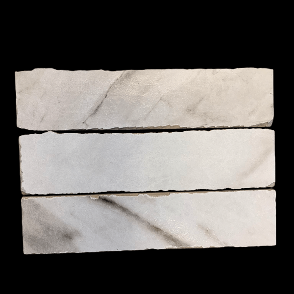 Marmerlook vloertegel Carrara Brick 6x25cm