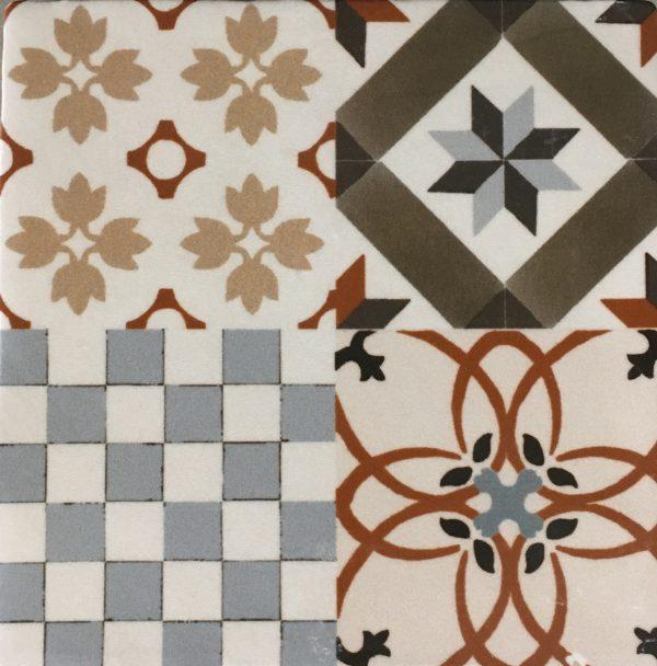 Nassau patroon tegel 13x13