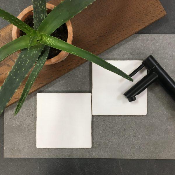 Cementum licht grijs effen 13x13cm